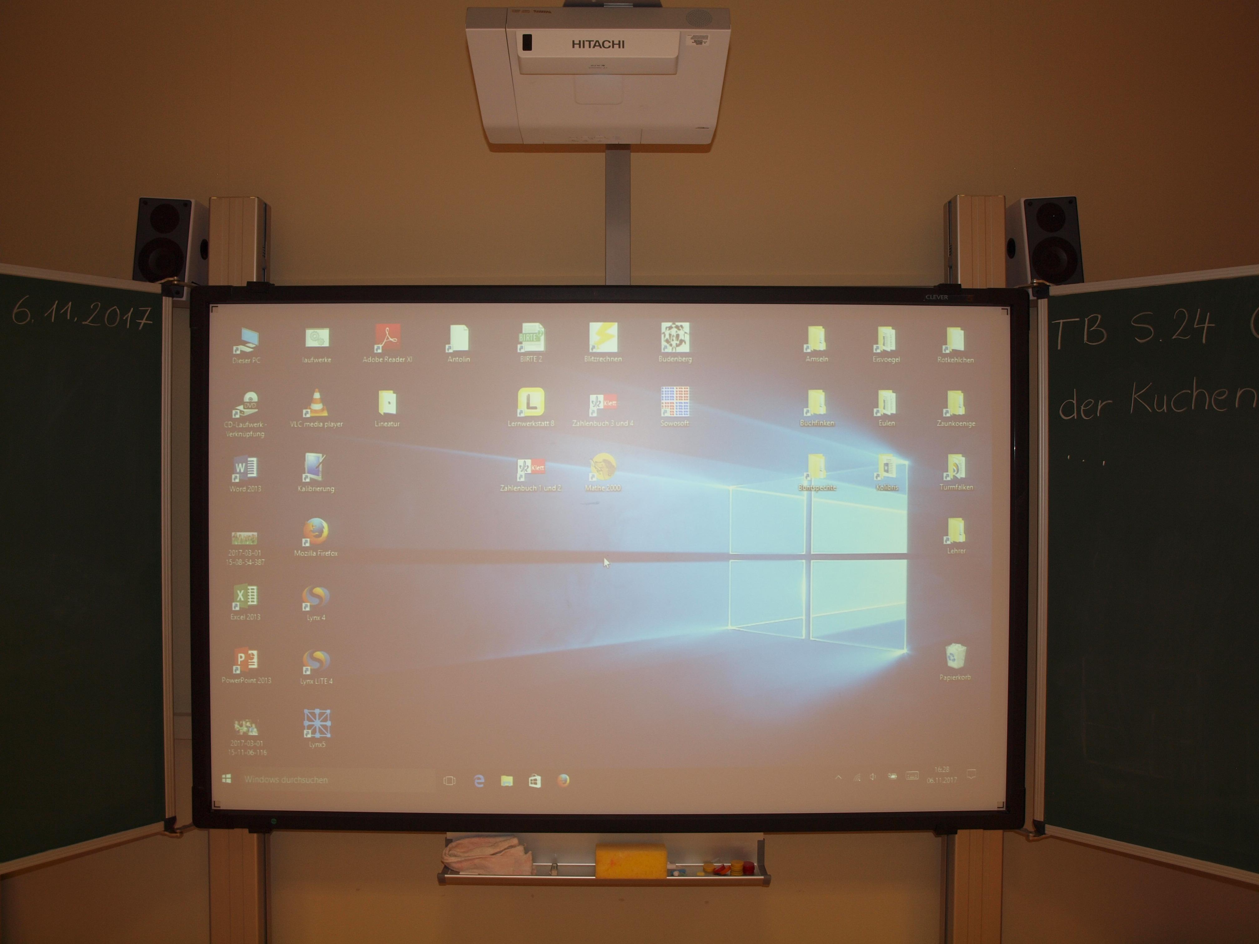 Digitale Tafelfelder in den Klassenräumen